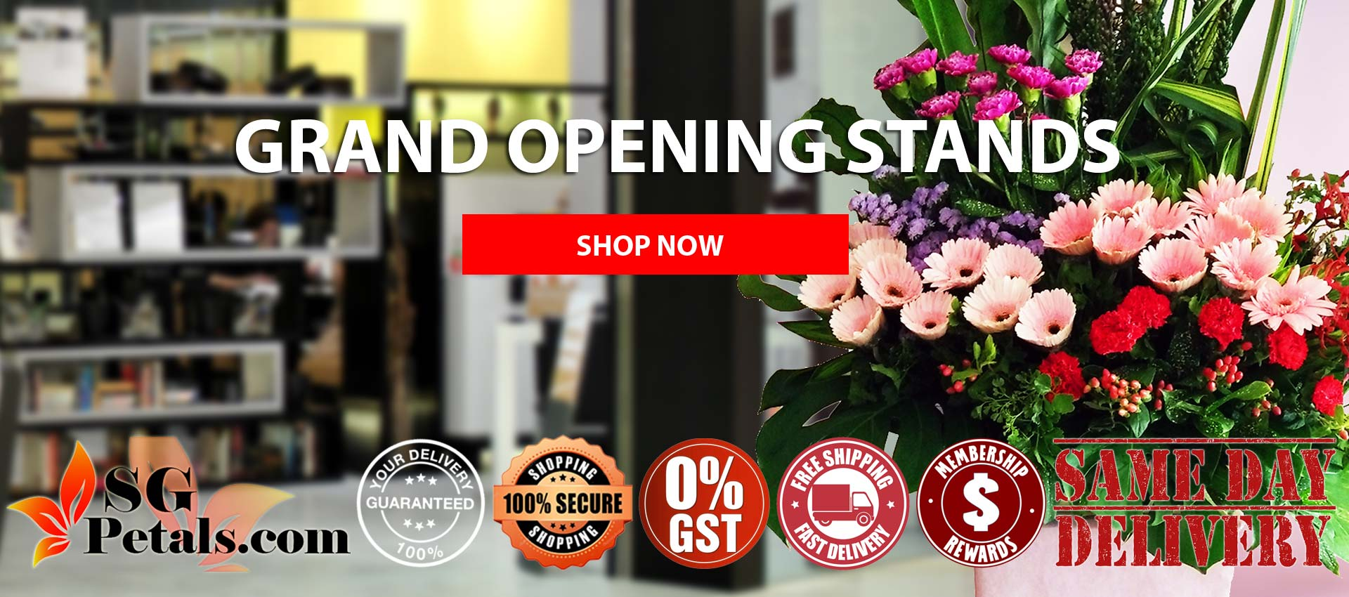 Grand Opening Stands in Singapore | Sgpetals.com