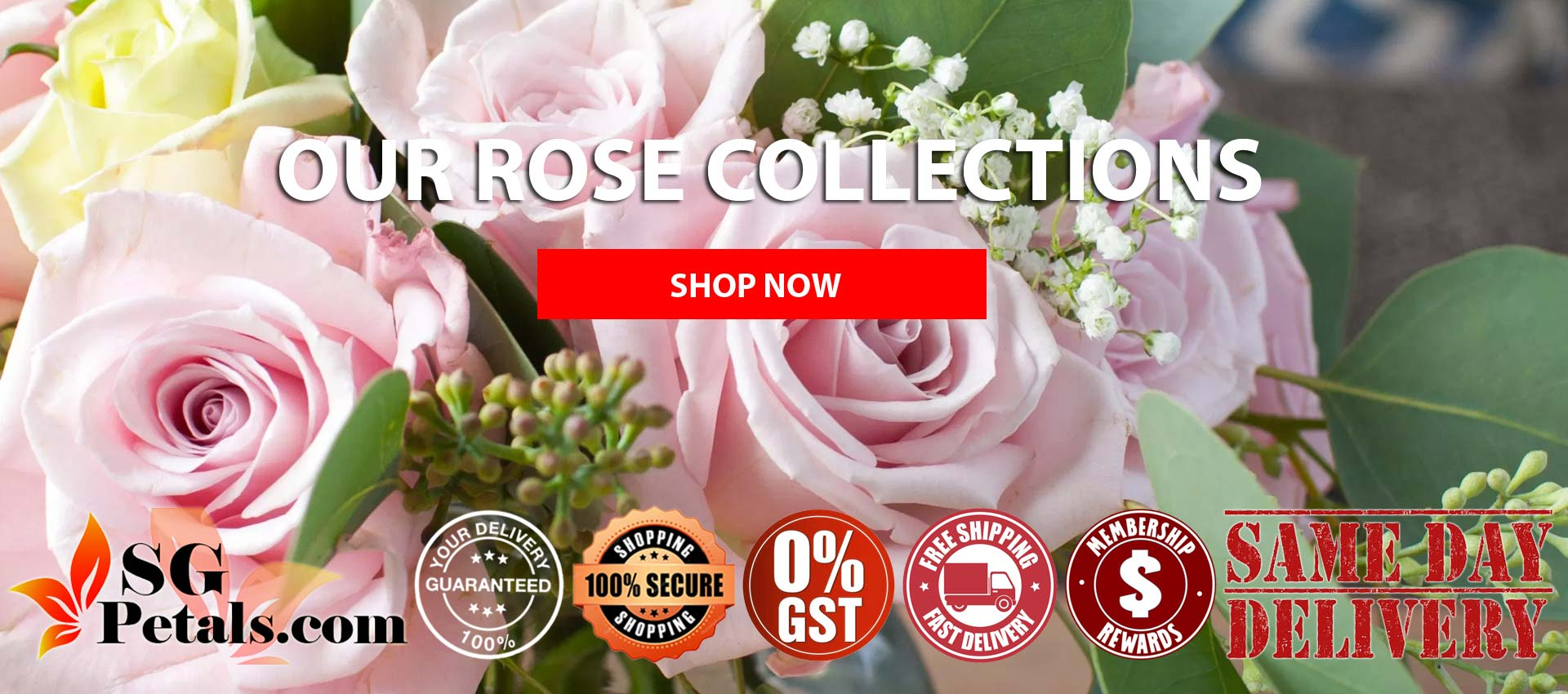 Roses Bouquet | Send Roses Bouquet for your loved one | Sgpetals.com